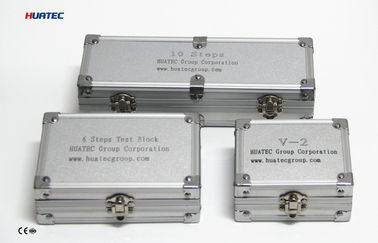 Cina IIW V-2 A4 75mm x 43mm x 12.5mm Ultrasonic Calibration Block / blok uji ultrasonik pemasok